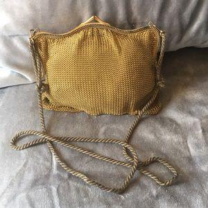 Vintage Metal Gold Mesh Bag